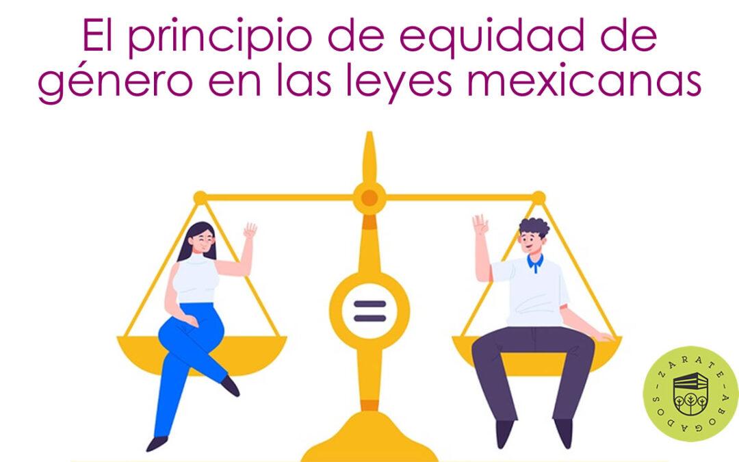 Principio de equidad de género en las leyes mexicanas