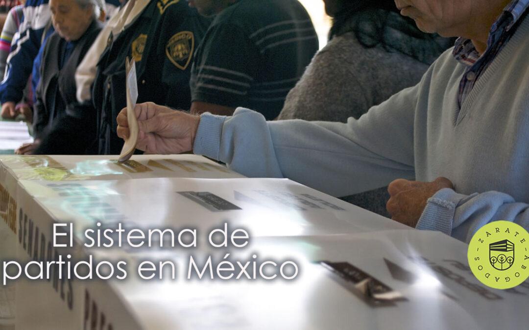 El sistema de partidos en México