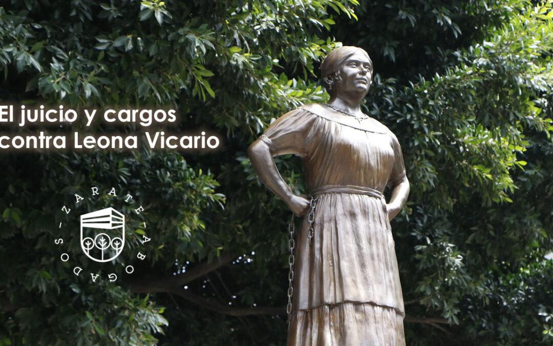 El juicio y cargos contra Leona Vicario