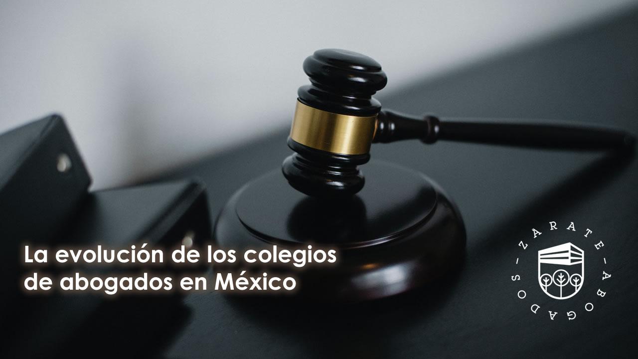 La evolución de los colegios de abogados en México